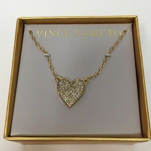 Brand New Vince Camuto Sparkling Heart Necklace